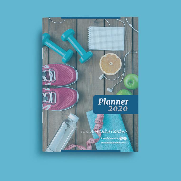 Capa do Planner 2020, ideal para organizar suas atitudes, tanto de saúde como financeiras.